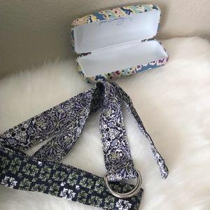 2/$20 Vera Bradley Belt Sunglasses Paisley Purple